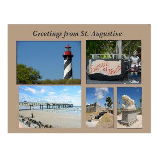 historic st augustine florida usa postcard