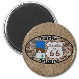 Historic US Route 66 Parks Arizona Magnet