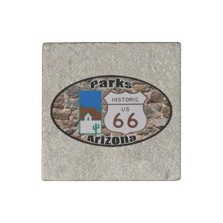 Historic US Route 66 Parks Arizona Stone Magnet