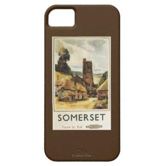 Historic Village Scene British Railway Poster iPhone 5 Cover
