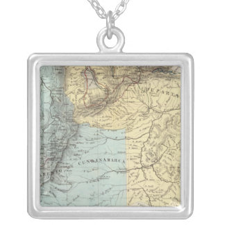 Historical Military Maps of Venezuela Silver Plated Necklace