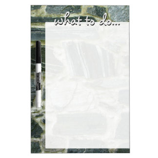 Historical Old Stone Wall Structure Dry Erase Board