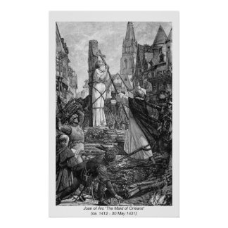 Historical Women - Joan of Arc Poster