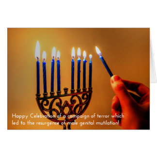 Historically Accurate Holiday Cards: Hanukkah Card