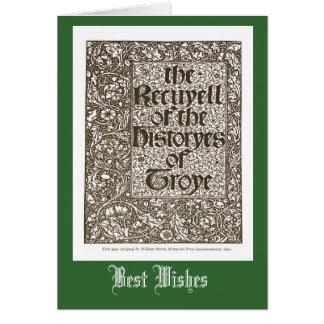Histories of Troye, William Morris 1842 Card