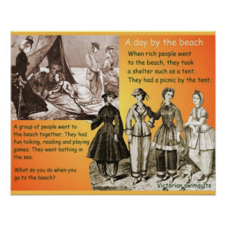 History, Victorians, 19th century, beach Poster