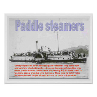 History, Victorians, Seaside Paddle steamers Poster