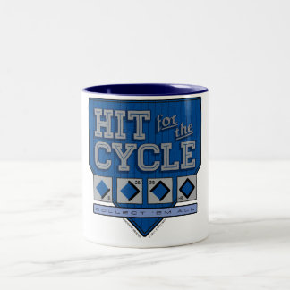Hit for the Cycle : Blue Pinstripes + Black Mug