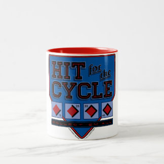 Hit for the Cycle : Red + Blue Coffee Mug