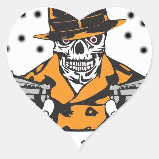Hitmen Poker Swag Heart Sticker