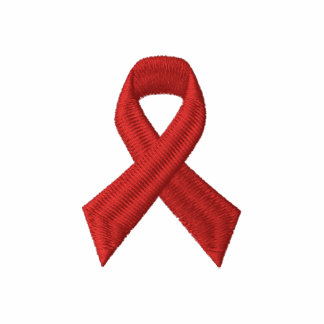 HIV AIDS Awareness - RED RIBBON EMBROIDERED