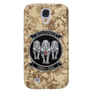 HMH-466 Wolfpack Marine Camo Samsung Galaxy S4 Covers