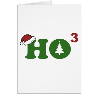Ho Cubed Merry Christmas Greeting Card
