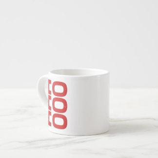 Ho Ho Ho (letterpress style) Espresso Cup