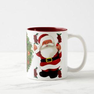 Ho! Ho! Ho! Merry Christmas_ Two-Tone Coffee Mug