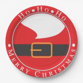 Ho Ho Ho Merry Chritmas Paper Plate