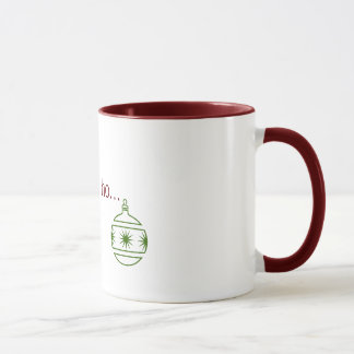 ho, ho, ho... mug with ornament