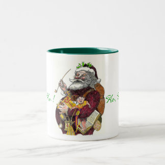 Ho, ho, ho mug with santa in Thomas Nast style