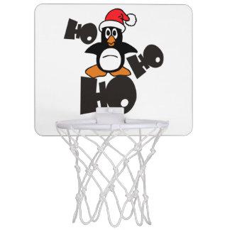 Ho Ho Ho - Penguin - merry christmas + your idea Mini Basketball Hoop