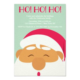 HO HO HO Santa Claus Party Invitation