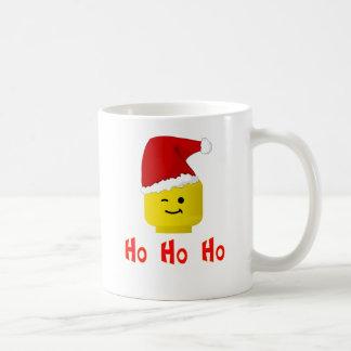 Ho Ho Ho Santa Minifig Head Coffee Mug