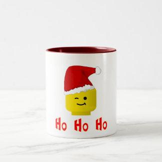 Ho Ho Ho Santa Minifig Head Two-Tone Coffee Mug