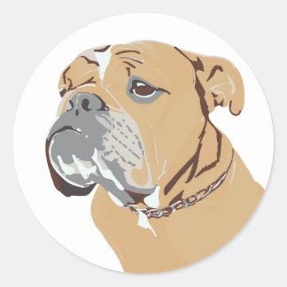 Ho Hum Dog Round Sticker
