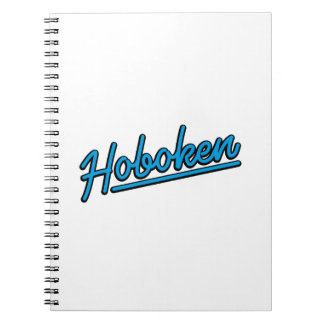 Hoboken in cyan notebooks