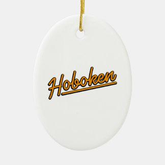 Hoboken in orange christmas ornament