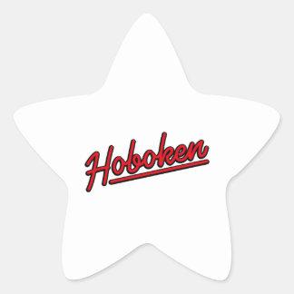 Hoboken in red star sticker
