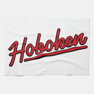 Hoboken in red tea towel