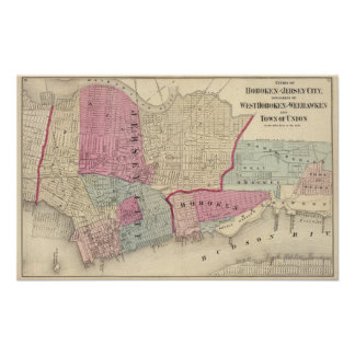 Hoboken, Jersey City Poster