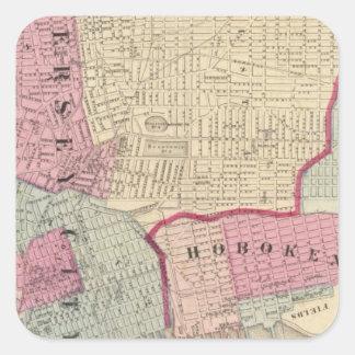 Hoboken, Jersey City Square Sticker