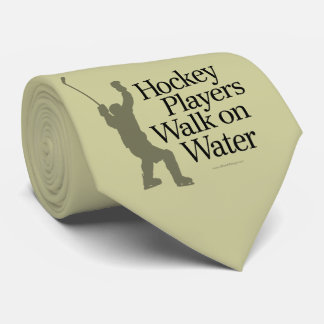 Hockey Players Walk On Water tie (light)