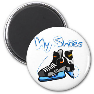 Hockey Skates My Shoes Tshirts and Gifts 6 Cm Round Magnet