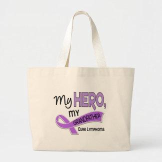 Hodgkin's Lymphoma MY HERO MY GRANDFATHER 42 Jumbo Tote Bag