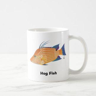 Hog Fish Classic White Coffee Mug