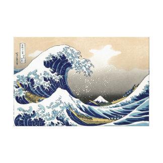 Hokusai Great Wave Off Kanagawa Katsushika Tsunami Canvas Print