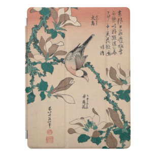 Hokusai Java Sparrow on Magnolia GalleryHD Art iPad Pro Cover