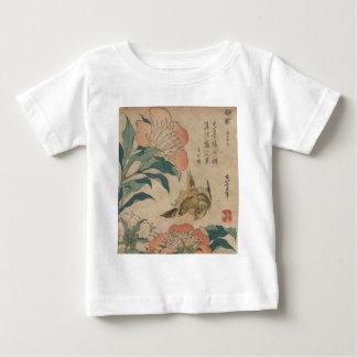 Hokusai Peony and Canary Baby T-Shirt
