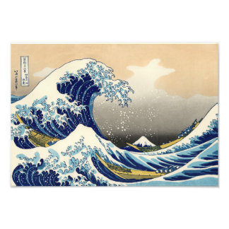 Hokusai The Great Wave Print Art Photo