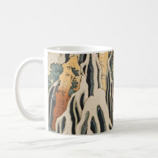 Hokusai's Waterfalls Kirifuri Basic White Mug