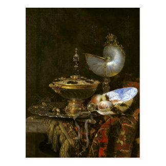 Holbein Bowl, Nautilus Cup, Goblet & Fruit Dish Postcard
