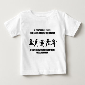 Hold hands around the equator baby T-Shirt
