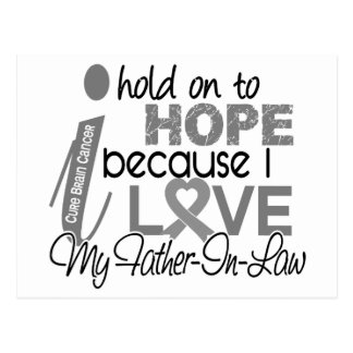Hold On To Hope Father-In-Law Brain Cancer Post Card
