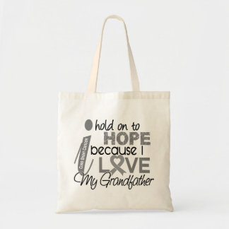 Hold On To Hope Grandfather Brain Cancer Budget Tote Bag