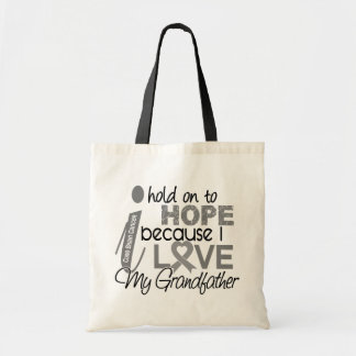 Hold On To Hope Grandfather Brain Cancer Tote Bag