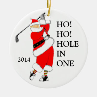 Hole-in-one Collectible. Round Ceramic Decoration