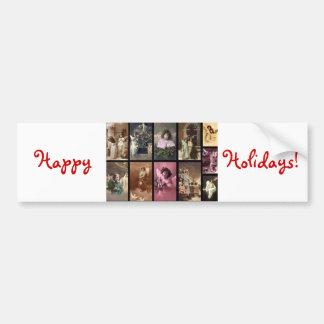 Holiday Angels Bumper Sticker II - Customizable Car Bumper Sticker