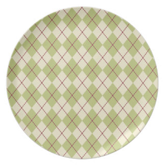 Holiday Argyle Plate